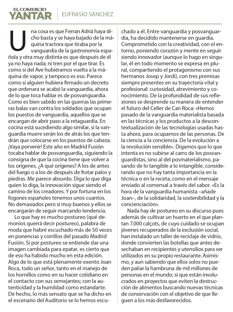 Article Eufrasio Sánchez blog